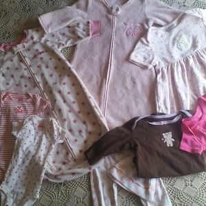 9 piece lot baby girl clothes
